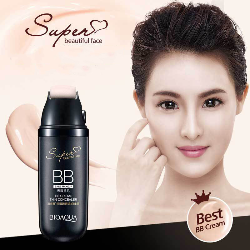 BB Cream With Roller Sun Block Concealer Moisturizing Foundation Bare Whitening Face Beauty Makeup Cosmetics