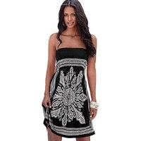 40 N8046 Sexy Strapless Vintage Dress Women Sleeveless Summer Floral Print China Retro Dresses Plus Size