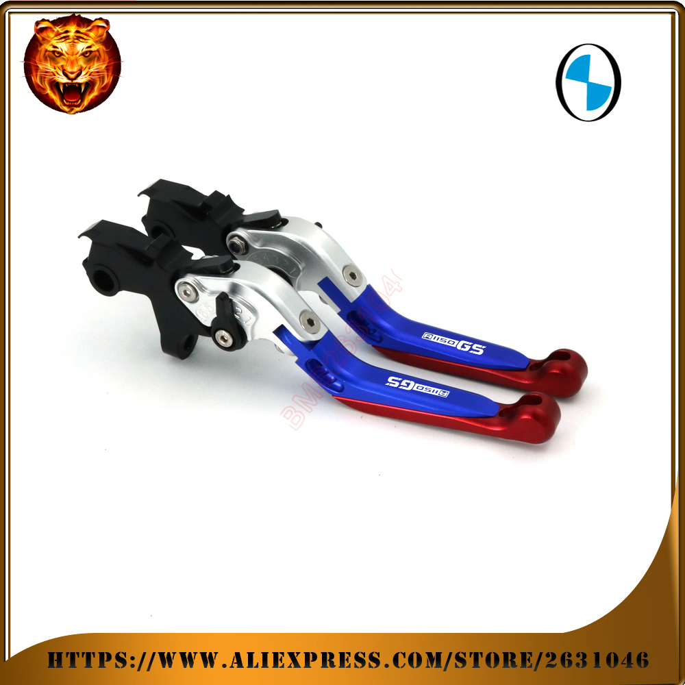 For BMW R 1150 R1150GS 2000-2003 R1150GS ADVENTURE <font><b>1150GS</b></font> R1150 Motorcycle Adjustable Folding Extendable Brake Clutch Lever BLUE image