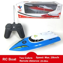 2016 Hot Sale Fast Electric RC Boat 25-50M Remote Control Boat 12Km/h Outdoor Toys Gifts Play Games For Boys Child