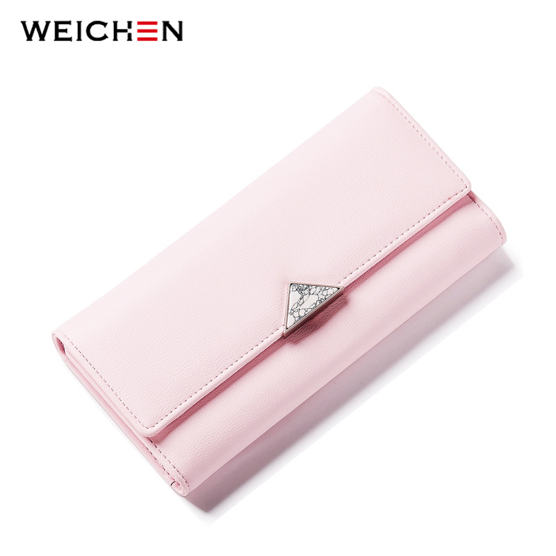 2017 Brand Lovely Leather Long Women Wallet Girls Change Clasp Purse Female Money Coin Card Holders Lady Clutch Wallets Carteras  2017 hot sale lovely leather long women wallet fashion girls change clasp purse money coin card holders wallets carteras