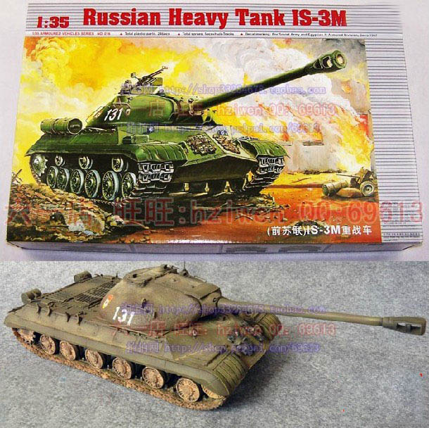 1:35 Soviet Union Stalin IS-3M Heavy Tank Assembled Model WWII Chariots DIY Plastic Toy
