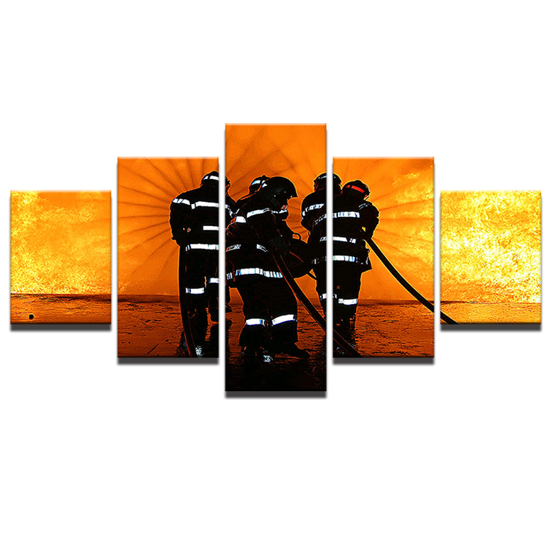 firefighter room decor. amazing modern pictures room hd printed poster home decor pieces wall art frame fireman landscape canvas painting pengda with firefighter decorations t