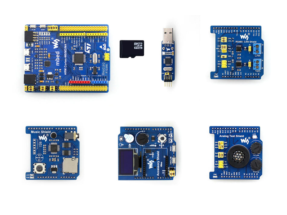 STM32 Development kit XNUCLEO-F103RB Package Compatible with NUCLEO-F103RB onboard Cortex-M3 with Common Used Peripheral Shield