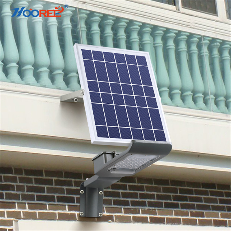 HOOREE Solar Light 20W 30W Remote Control Solar Flood Light for Street Solar Lamp Outdoor Waterproof LED Street Lights Road Lamp