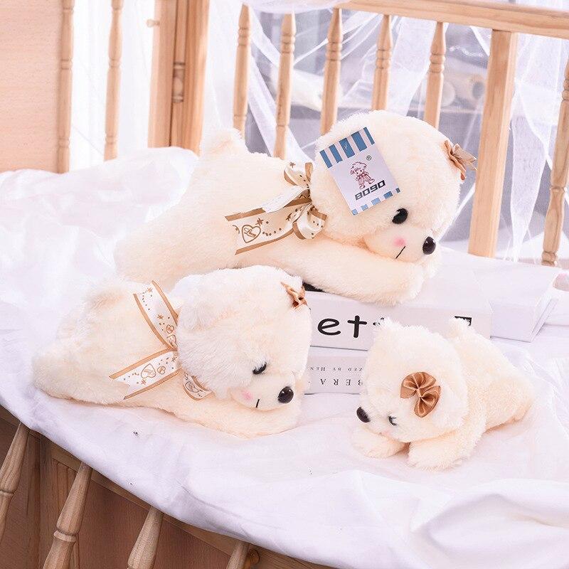 22/28/35CM Cute Lying Bear Plush Toy Stuffed Soft Animals TeddyBear Pillow Sofa Cushion For Children Birthday Gifts Lovely