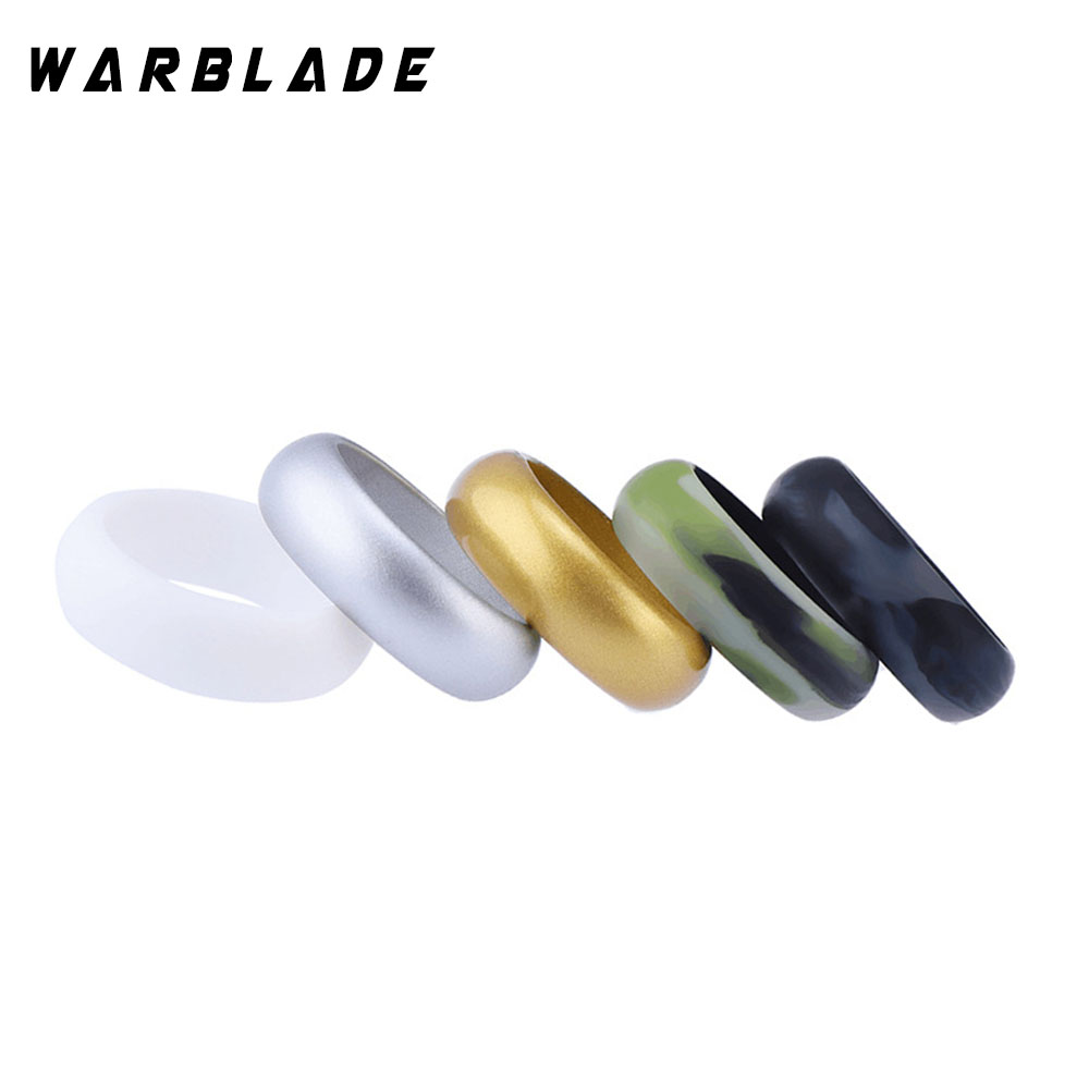 8mm Food Grade FDA Silicone Ring Hypoallergenic Crossfit Flexible Silicone Finger Rings For Men Women Wedding Jewelry 5pcs/set