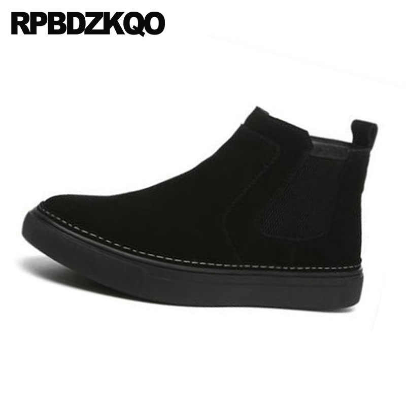 Black Trainer Ankle Thick Soled
