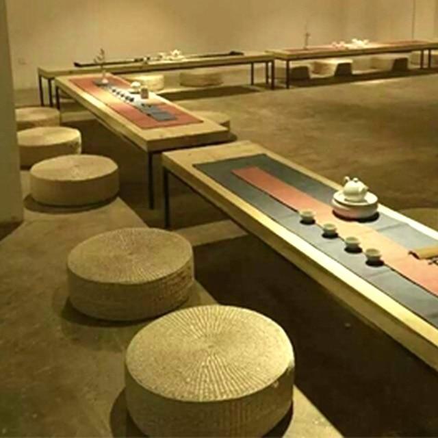 40cm Round Pouf Tatami Cushion Floor Cushions Natural Straw Meditation Mat Yoga Zafu Chair