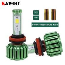 Фотография KAWOO Car LED Headlights H8 H9 H11 Auto Headlamp Front Light  6500K Lights Lighting Bulb Fog Light 12V Car Accessories Styling