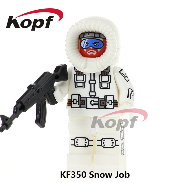 50Pcs KF350 Super Heroes Gi Joe Series Snow Job Serpentor Stg. Slaughter Building Blocks Bricks Action For Children Gift Toys