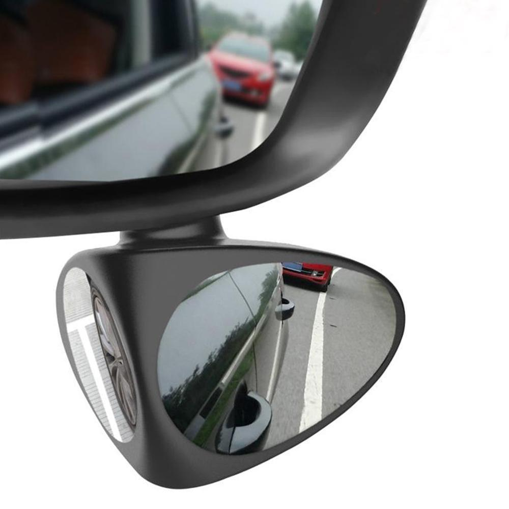 360 Degree Rotatable 2 Sides Car Blind Spot Convex Mirror Rear View Parking Mirror Safety Accessories