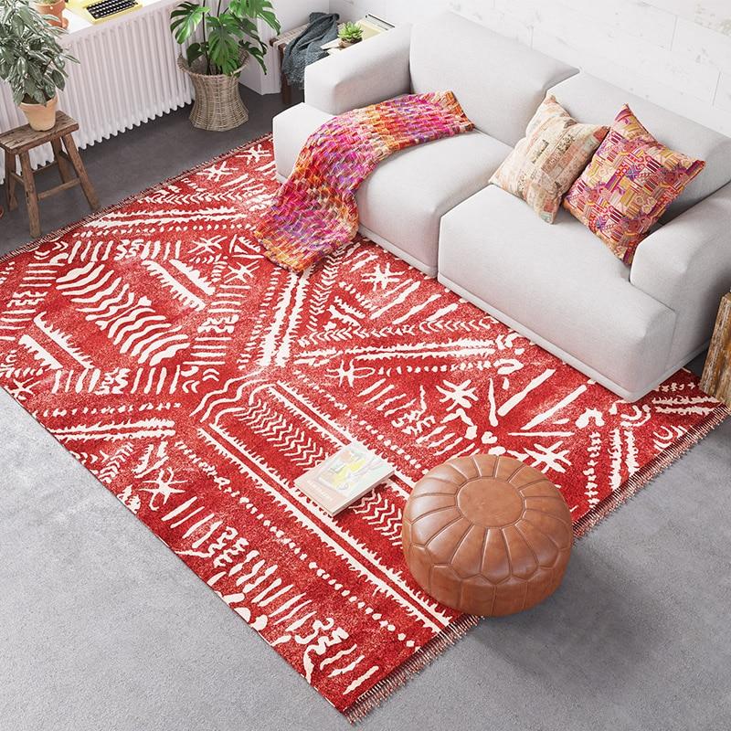 Moroccan Style Carpet Living Room Indian Bedroom Rug Home Sofa Coffee Table Floor Mat Kids Tatami Area Rugs Study Room Carpets