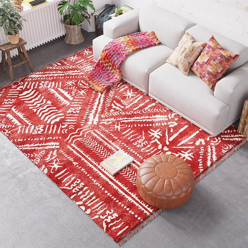 Tapis Style marocain salon chambre indienne tapis maison canapé Table basse tapis de sol enfants Tatami tapis salle d'étude tapis