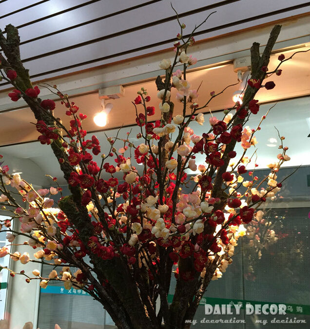 116cm high simulation long stem artificial plum fake plum branch 116cm high simulation long stem artificial plum fake plum branch wedding decorative silk fabric flowers in artificial dried flowers from home garden mightylinksfo