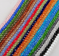 18 Colors 8mm Crystal Beads  Faceted Crystal Glass Beads Loose Spacer Round Beads for Jewelry Making 70pcs