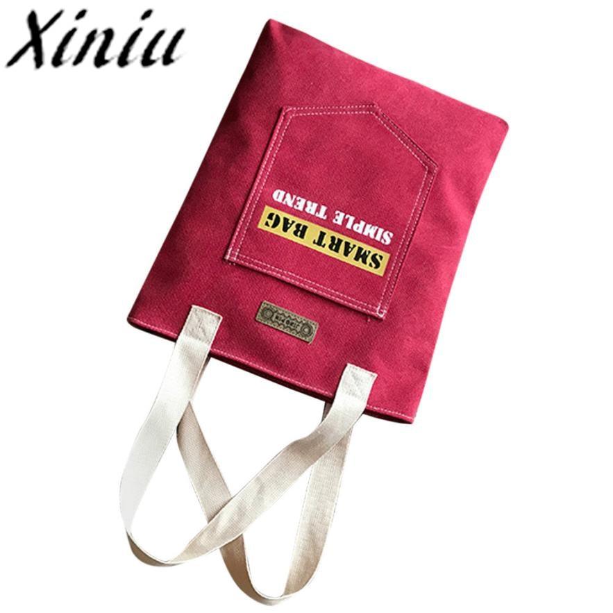 Letter Bag Woman Canvas Tote Casual Beach Bags Women Shopping Bag Handbags Luxury Handbags Women Bags Designer #Ws