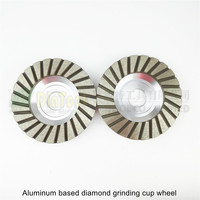 Diameter 100mm Grinding Wheel For Granite Concrete 2PK 4inch Aluminum Based Diamond Grinding Cup Wheel 30