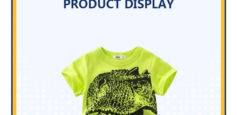 57504e1a 1. INPEPNOW Dinosaur T Shirt For Boys Kids Shirts Jurassic World Tops For Kids  tshirt Short Sleeve T-shirt Girl Children ...