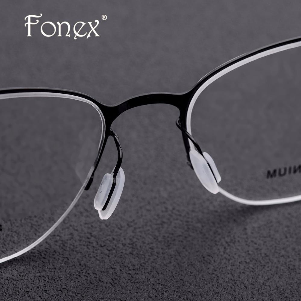 Myopie Semi Brillen Linsen Legierung Frauen Männer Halb Dünne Optische Hohe randlose Titan Qualität Mit Rt0xqwq