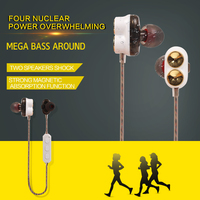 M2 Bluetooth 4.1 Headset With Magnetic Earbuds HD Microphone Wireless Earphone In-ear Style For Mobile Phone Sport Microphone