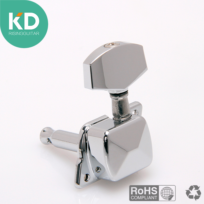 Semi-closed Electric Guitar tuning peg machine head tuning key 3L/3R or 6 in line per set guitar replacement parts tuners tooyful 6r locking button machine head tuning pegs tuners for electric guitar parts