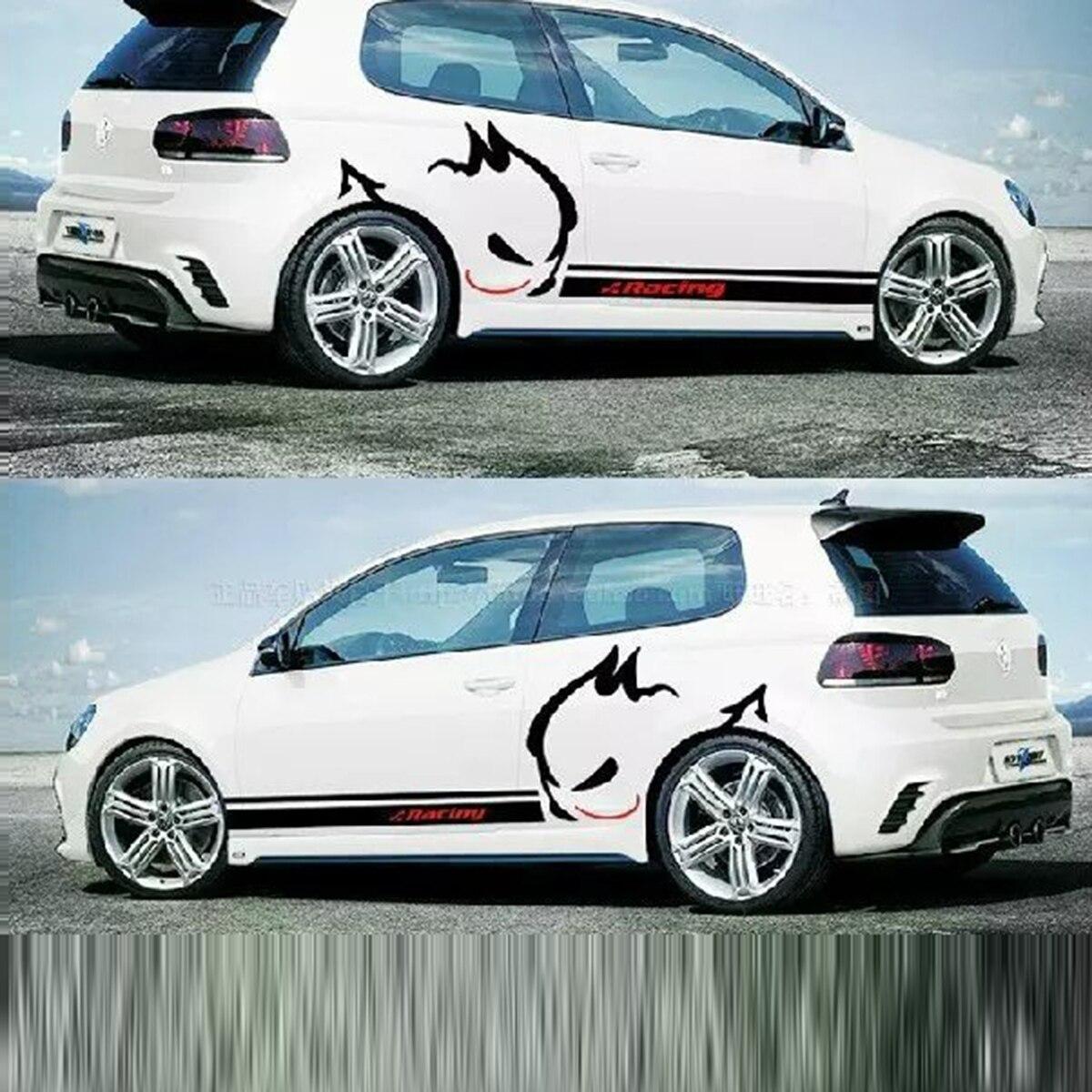 Car full body sticker design - Full Car Body Garland Decorative Body Decals Evil Rabbit Car Stickers For Vw Chevrolet Hyundai Bmw