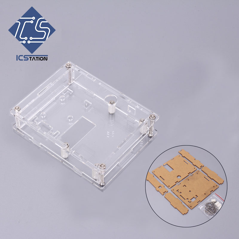 Plastic Transparent Shell Protective Case Acrylic Cover Precise For LCR-T4 Transistor Tester protective acrylic shell case for raspberry pi b transparent