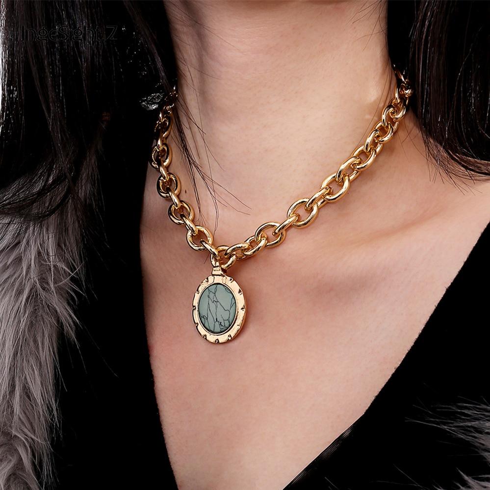 Necklaces & Pendants Jewelry & Accessories Shop For Cheap Marble Chain Short Necklace Bracelet Chain Set Disc Bracelet Coin Bracelet Fashion Acrylic Bracelet And Necklace Female Jewelry Beautiful In Colour