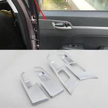 Car Accessories Interior Decoration ABS Chrome LHD Inner Door Handles Cover Trim For Hyundai Elantra 2018 Car-styling