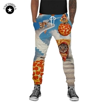 Joggers Men Pants 3D Trousers Pizza Cat Funny Printed Sweat Pants Casual Sweatpants Elastic Waist Men