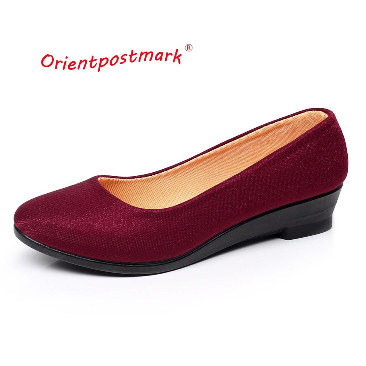 Women Ballet Shoes Women Wedges Shoes for Work Cloth Sweet Loafers Slip On Women's Pregnant Wedges Shoes Oversize Boat Shoes women shoes women ballet flats shoes for work flats sweet loafers slip on women s pregnant flat shoes oversize boat shoes d35m25