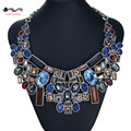 2016 New Fashion crystal chain Choker Za Big Brand Shourouk Necklaces & Pendants Multicolored Statement Luxury jewelry joyeria