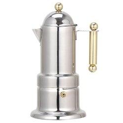 200Ml 4 kubki ze stali nierdzewnej dzbanek stalowy do kawy ekspres do kawy Moka czajniczek filtr automatyczny ekspres do kawy ekspres do kawy
