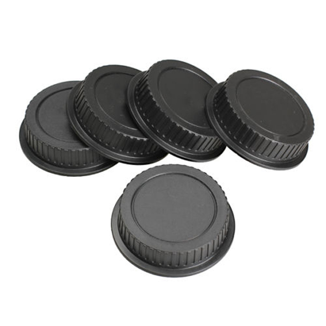 Mayitr 5pcs New Rear Lens Cover plastic Lens Cap Dust  For Canon Camera EF ES-S EOS Series Lens Black