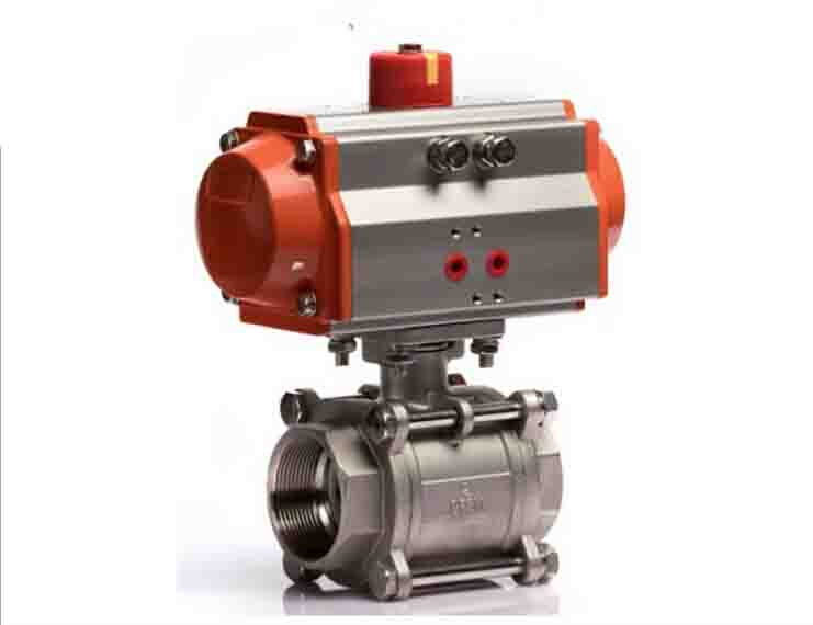 DN20 3PCS  Pneumatic Control 3/4 Stainless Steel Ball Valve pneumatic stainless steel 3pc 1000 wog ball valve