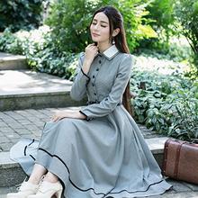 7a02e50d3190d Vintage Ekose Zarif Elbise Kadın 2019 Yeni Moda İngiltere Stil A Hattı Robe  Bayanlar Bahar Ofis Aşınma Rahat Chic Retro elbisele.