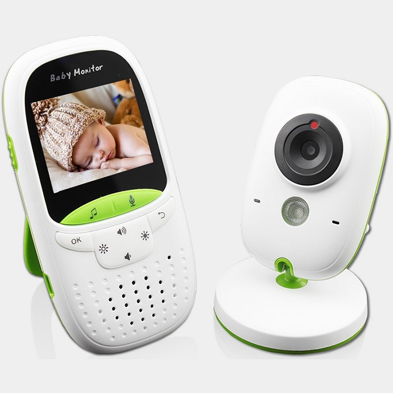 FIMEI Wireless Baby Monitor 2.0 Inch Color Infrared Home Security Camera Nanny Monitor Temperature Time Display Intercom GS-602