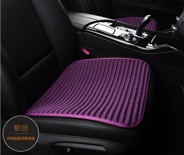 3 pieces / set natural fiber car seat sunmmer seasons general car anti-skid breathable sweat chip pad