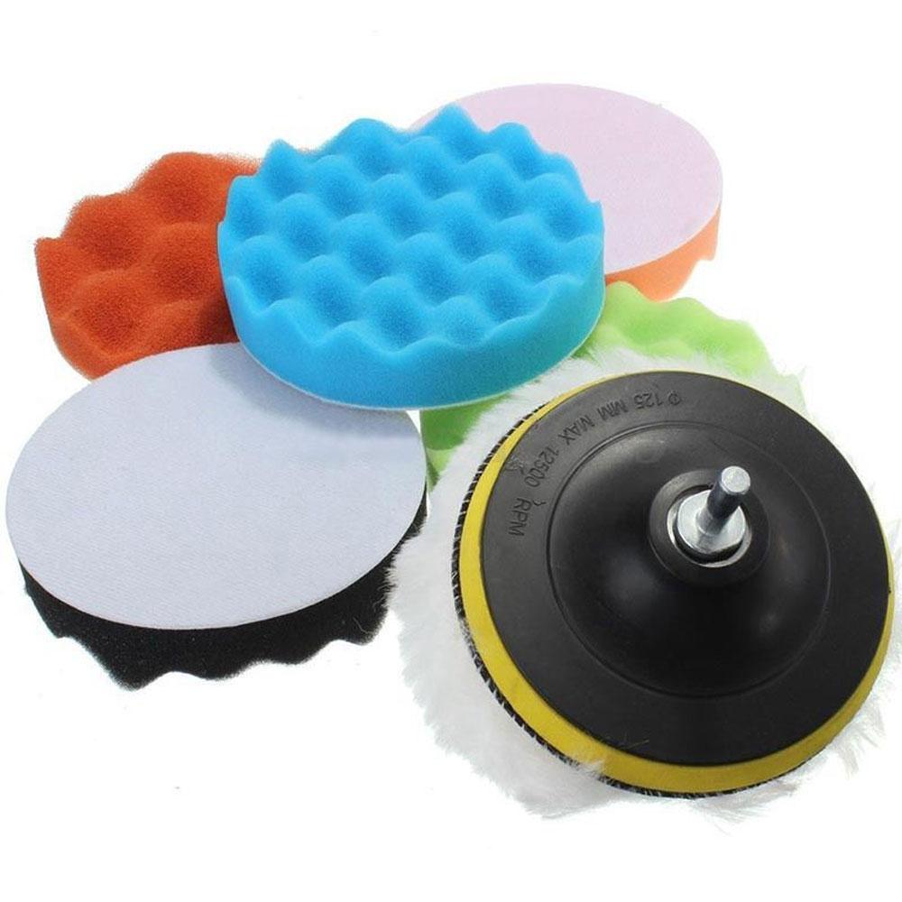 Vehemo 8 шт. Губка для полировки полирующая пена шлифовальный прибор буфер чистящие инструменты для автомобиля губка для полировки прочный авто комплект для ваксации