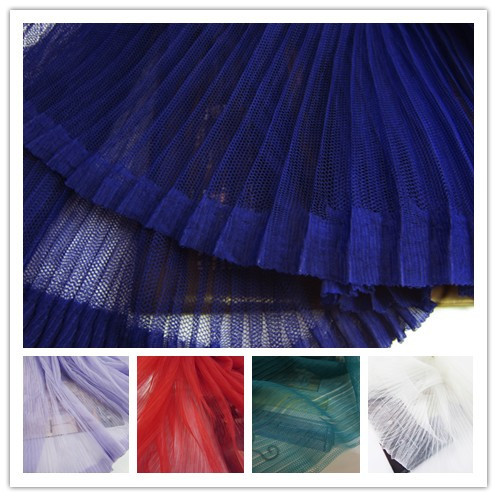 1psc Textile micro hard net yarn pleated   fabrics  transparent gauze  fabrics for dancing skirt children's clothing