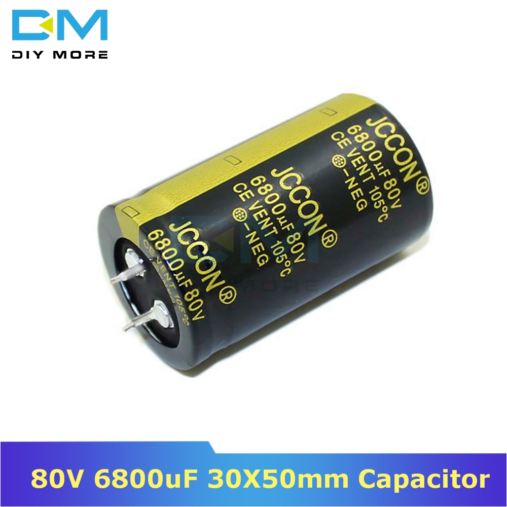 80V 6800uF 30X50mm 30X50 Aluminum Electrolytic Capacitor High Frequency Low Impedance Through Hole Capacitor 30*50mm Diymore