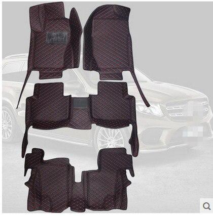 Gute qualität! Spezielle auto fußmatten für Mercedes Benz GLS 350d AMG 7 sitze 2018-2016 durable teppiche für GLS350d, freies verschiffen
