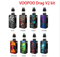VOOPOO DRAG 2 Box Mod 5ml Uforce T2 Tank Uforce U2 N3 Coil 177W Max Output Electronic Cigarette Vs Voopoo Drag Mini