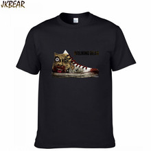 New-arriving Funny The Walking Dead T Shirts for Men and Women Shoes Print Matching Couples T-shirts for Lovers Plus Size S-3XL