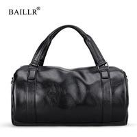 BAILLR Brand Vintage Men Messenger Bags High Quality Soft Pu Leather Handbag Large Capacity Travel Bags