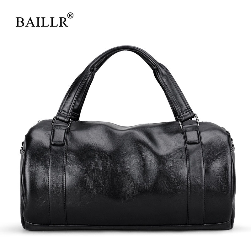 BAILLR Brand Vintage men messenger bags high quality soft pu leather handbag large capacity travel Bags Pillow Casual Men's Tote стоимость