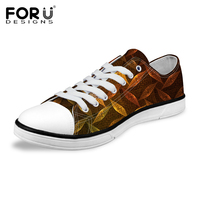 FORUDESIGNS Spring Summer Men's Vulcanize Canvas Shoes Fashion Lace up Leisure Comfortable Male Students Low Style Flats Shoes