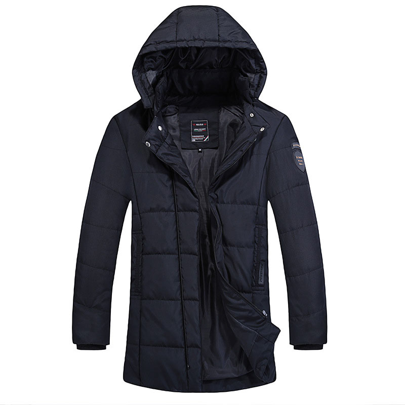 Big Size 4XL Winter Jacket Men Parka Cotton Padded Coat Winter Warm Hooded Long Sleeve Slim Fit Casual Men's Quilted Jackets  цена