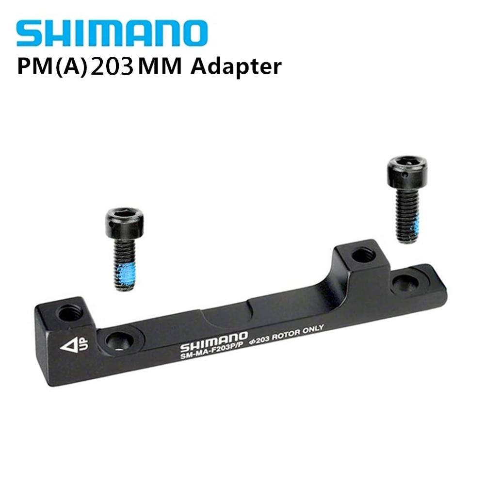 SHIMANO F203P//P DISC BRAKE ADAPTER FOR 203MM ROTOR 74MM CALIPER 74MM FORK FRAME